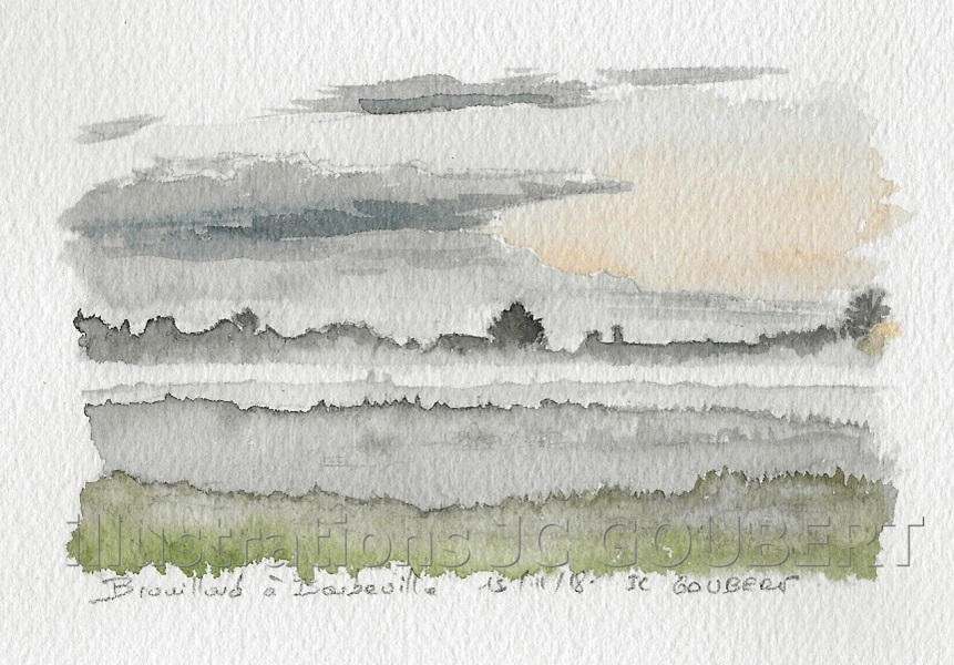 Brouillard à Barbeville