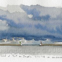 Ciel lourd à Port-en-Bessin